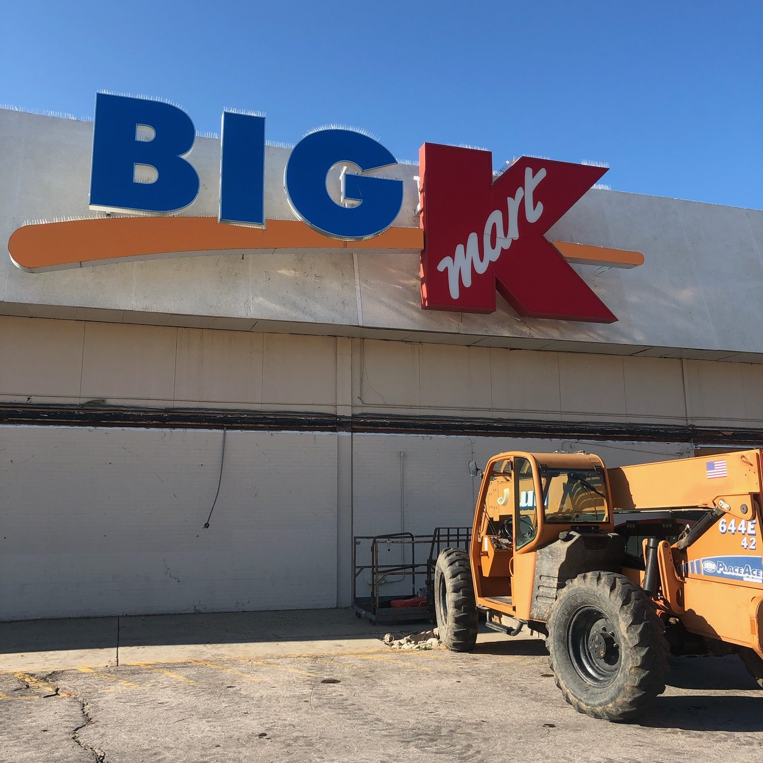 Big K Sign at Dakota Market Square (Before Removal) - August 27, 2019