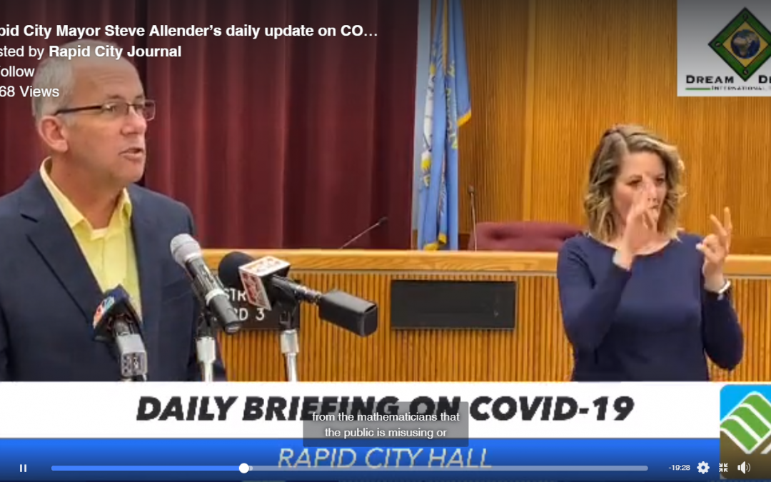 Daily COVID-19 Updates from Mayor Allender via the Rapid City Journal